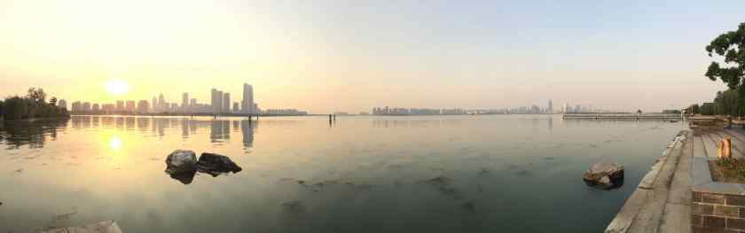 Suzhous Skyline und Lakeview